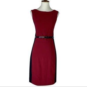 Cache Sheath Dress with Belt